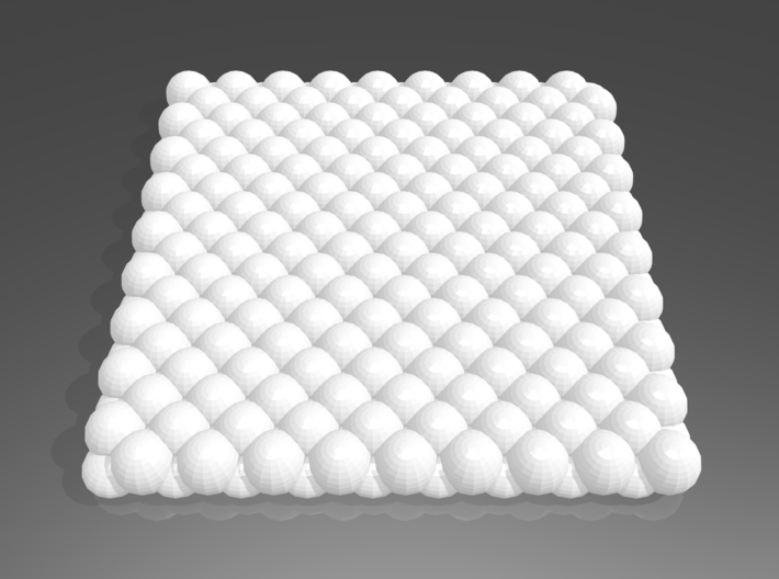 Pebble Coaster - Checkered Pattern 0 (Small Size) 3d printed