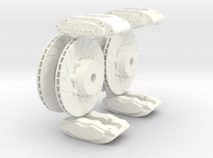 Calipers 1/8 and Rotors V4 3d printed