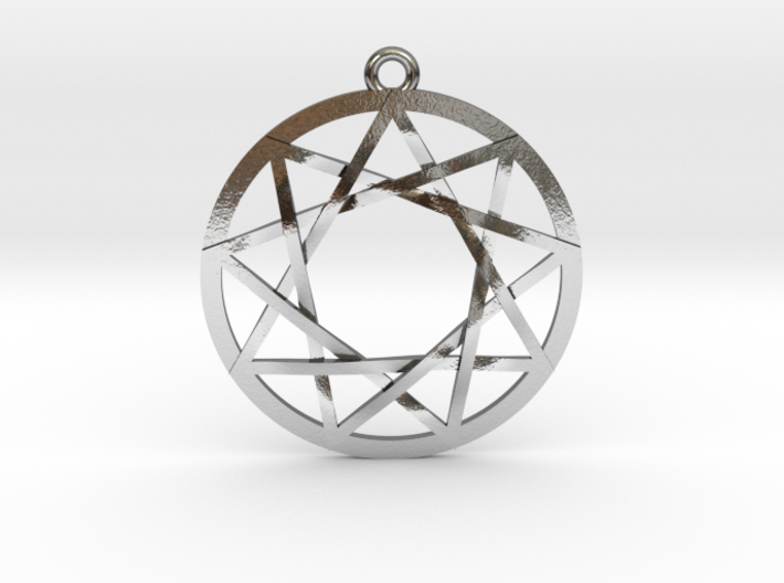 """The Council of 9 Pendant 1"""" 3d printed"""