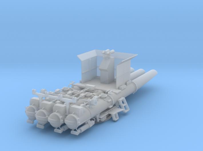 Torpedorohre Vierling offener Bedienstand 1:100 3d printed