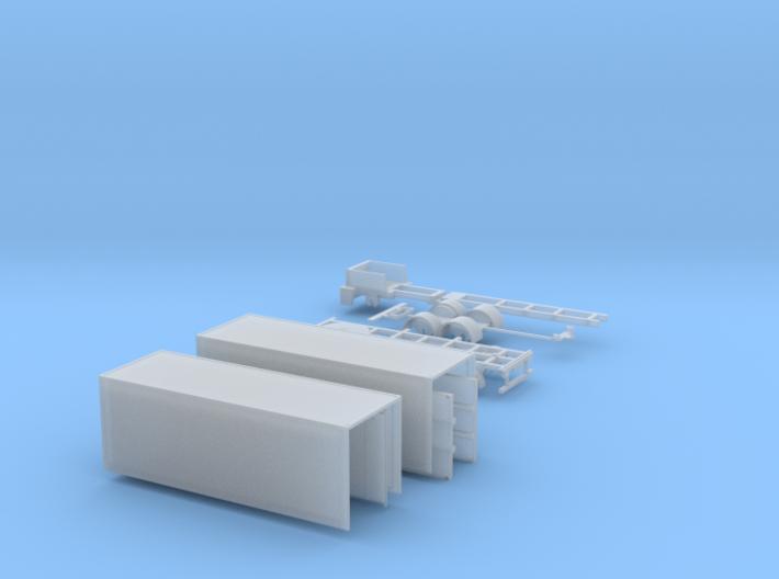kompletter Kofferhängerzug N 1:160 3d printed
