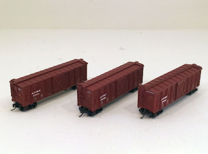ATSF STOCKCAR Sk-2, 3 and 5, floor 3d printed Sk-2. -3 and 5