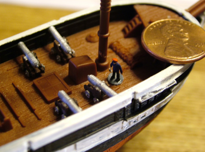 10 Ships Cannons Z 3d printed Cannon Z scale