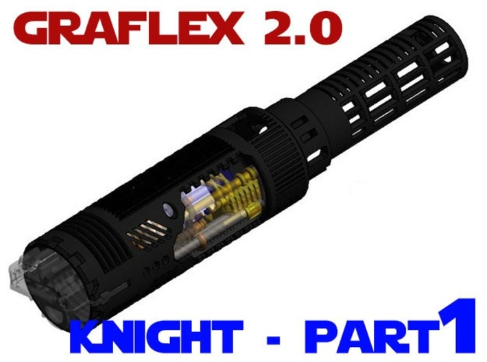 Graflex2.0 - Knight Chassis Part 1 - Main shell 3d printed