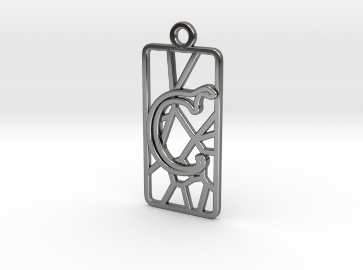 Personalised Inkscape Voronoi Earring Rectangular 3d printed