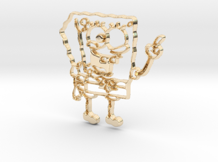 Spongebob Pendant 3d printed