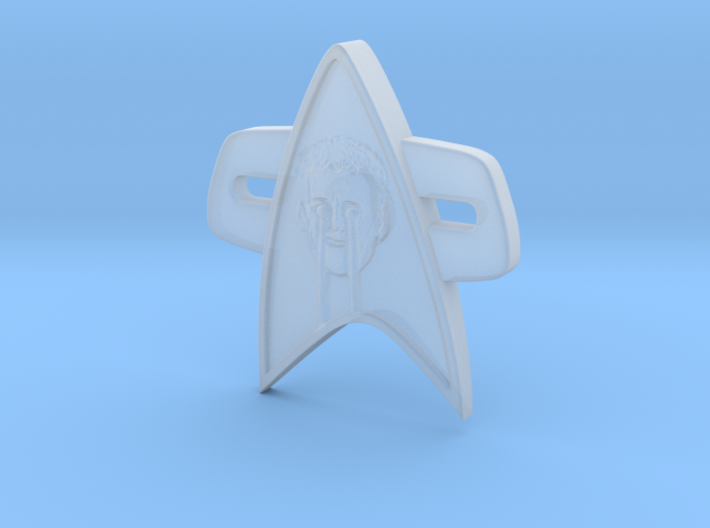 Phaser Eyes Corps Comm Badge 3d printed