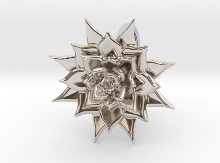 Pointed Succulent 3d printed
