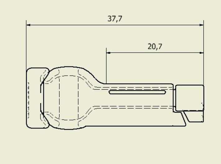 6mm locker - 21mm - Nylon  3d printed