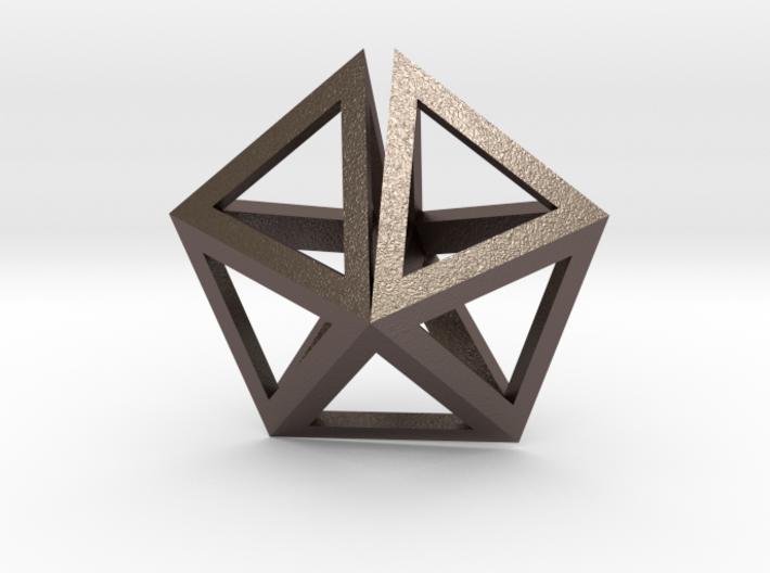 UFO Tetrahedrons pendant 3d printed