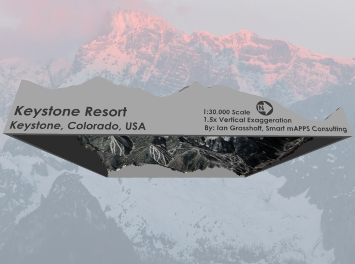 "Keystone Resort, Colorado - Winter: 8""x10"" 3d printed"