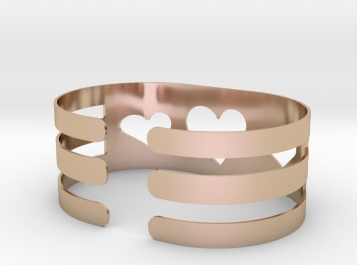 Valentine Heart bracelet 3d printed