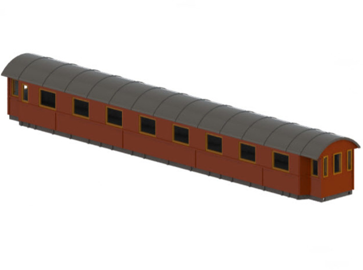 Bo4b - Swedish passenger wagon 3d printed CAD-model