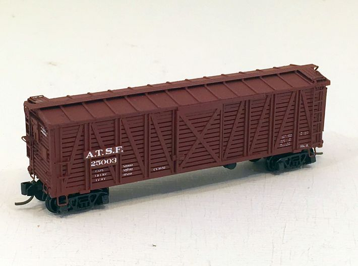ATSF STOCKCAR Sk-2, complete shell 3d printed