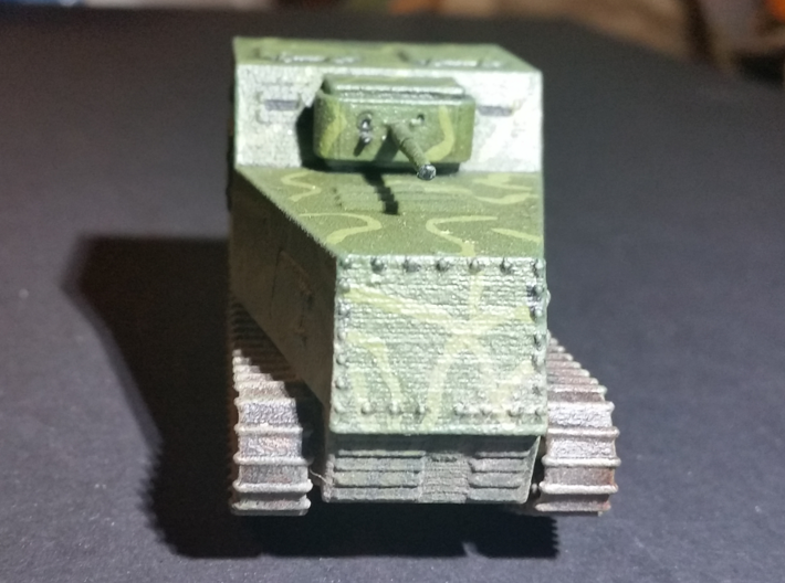 1/56th scale KHTZ-16 soviet armoured tractor 3d printed Photo and painting by Brian Ward.