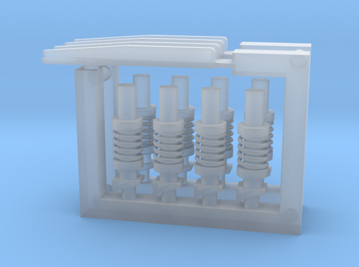 Ariane 3 and 4 PAP booster attachment fittings 3d printed