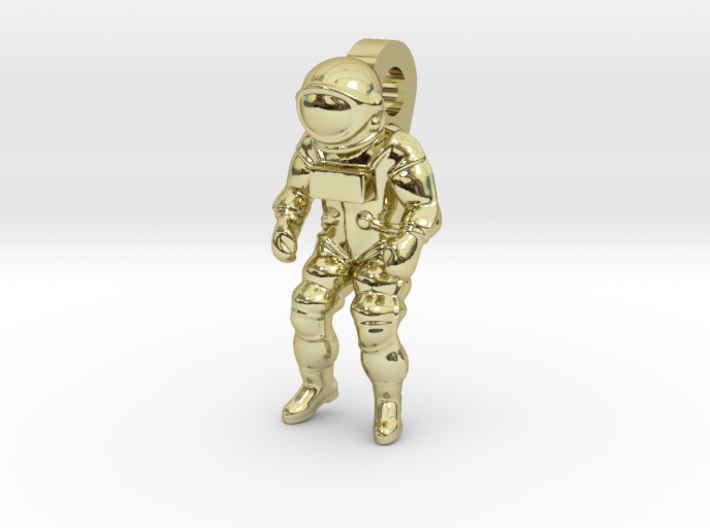 Astronaut Earring Pendant / 21mm 3d printed