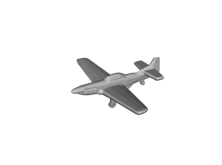 P-51 Mustang x8 (Axis & Allies) 3d printed