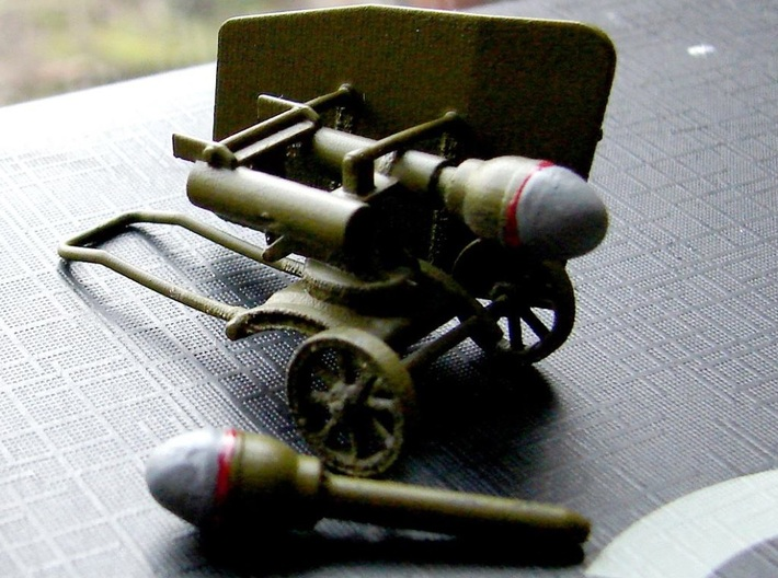 1/35th scale WW2 Hungarian 44M Buzoganyveto 3d printed Photo and painting by István Rangel.