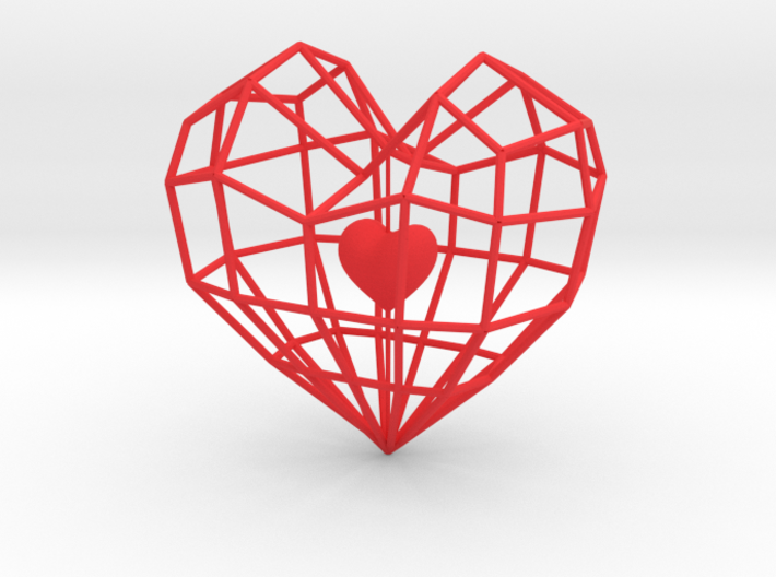 The Captured Heart 3d printed