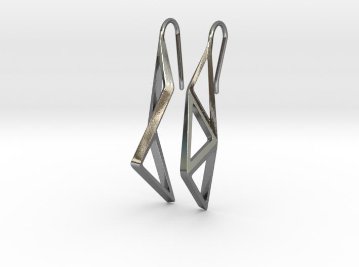 sWINGS Structura Earrings 3d printed