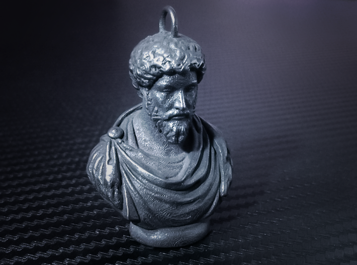 Marcus Aurelius Keychains 2 inches tall 3d printed