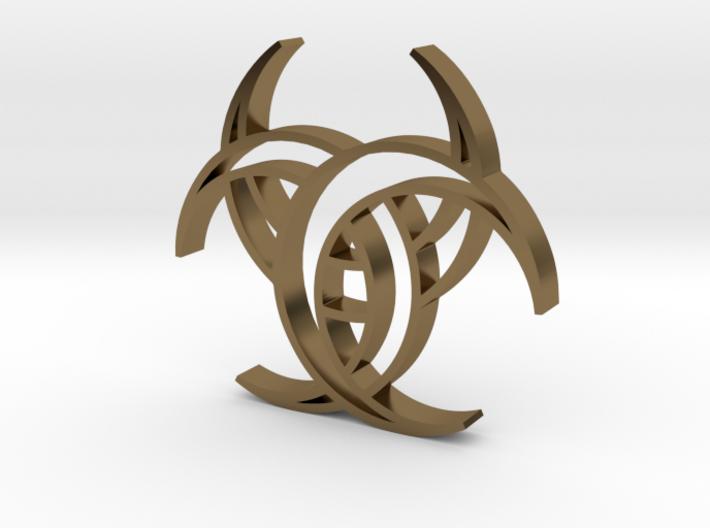 Celtic Three Crescents pendant 3d printed