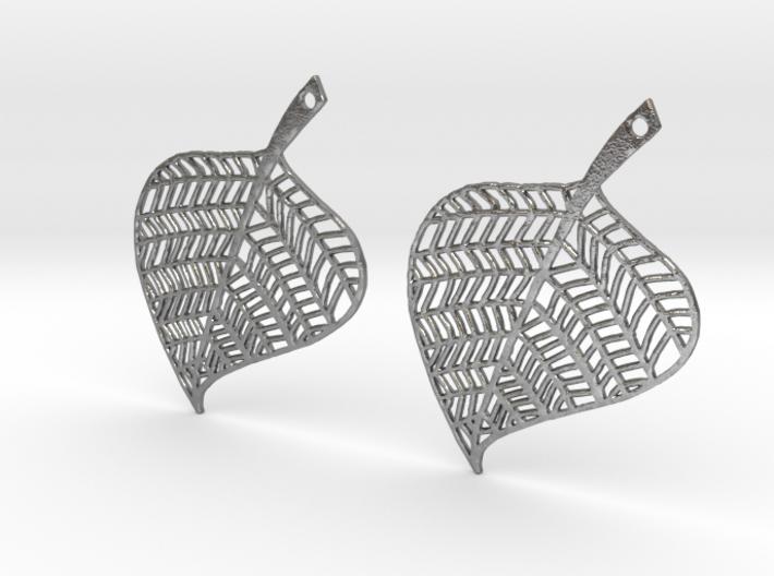Hand Drawn Leaf Earrings 3d printed