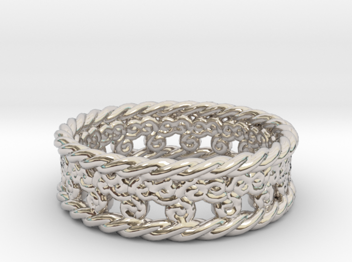 Triskelion Rope Ring Size 6 1/2 3d printed
