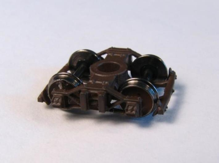 T82p 8 N archbar trucks, Allen/California V&T, pin 3d printed shown with FVM wheelsets