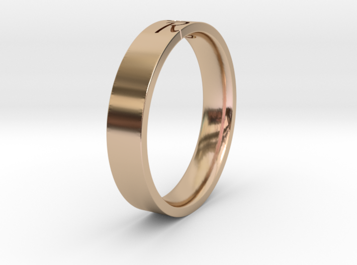 Ring with character 3d printed