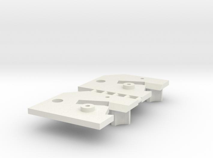 2 Sideways Mounting Plate Carrera Digital 132 D132 3d printed