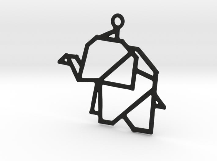 Origami Elephants Pendant 3d printed