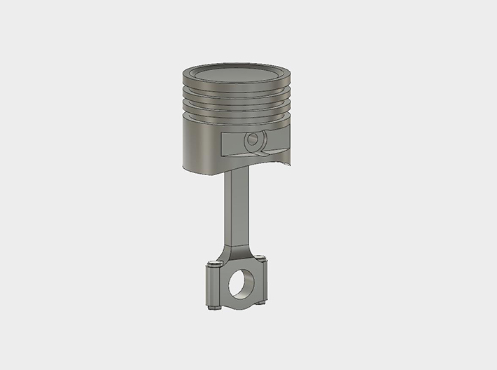 Piston#1(Dish Top)(Rod1)(Solid)(10/15/25mm) 3d printed