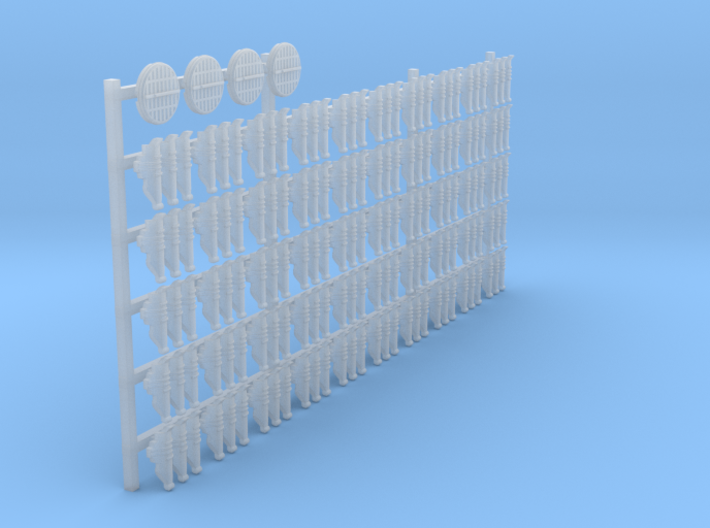 1/12 23mm links and air diffusers 3d printed