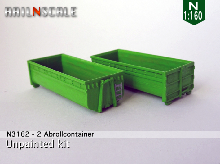 2 Abrollcontainer (N 1:160) 3d printed