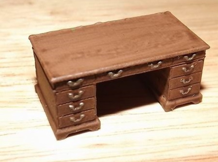 1/56th (28 mm) scale office desk 3d printed