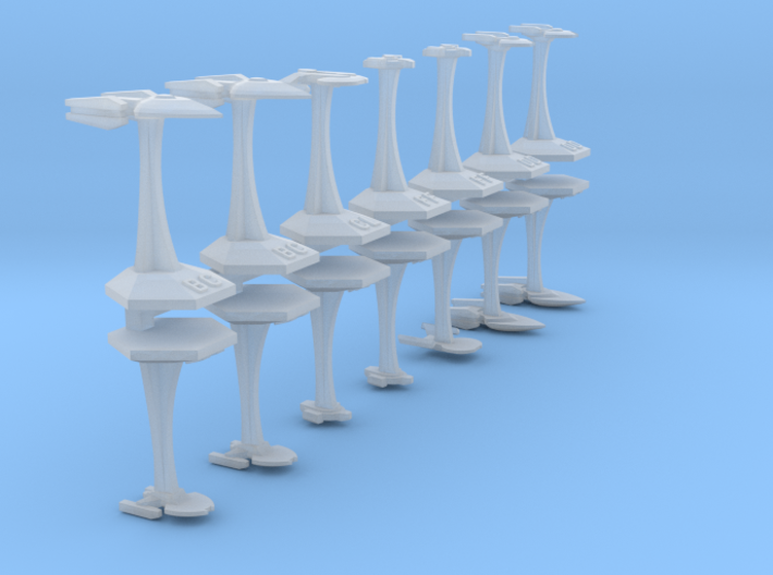 MicroFleet TNG Coalition Fast Attack Group (14pcs) 3d printed