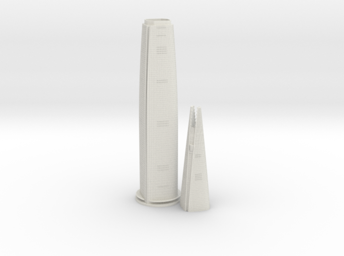 Lotte World Tower (1:2000) 3d printed