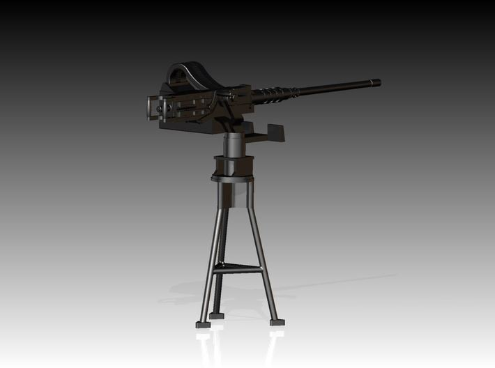 Single Modern 50 Cal Browning on Tripod 1/25 3d printed