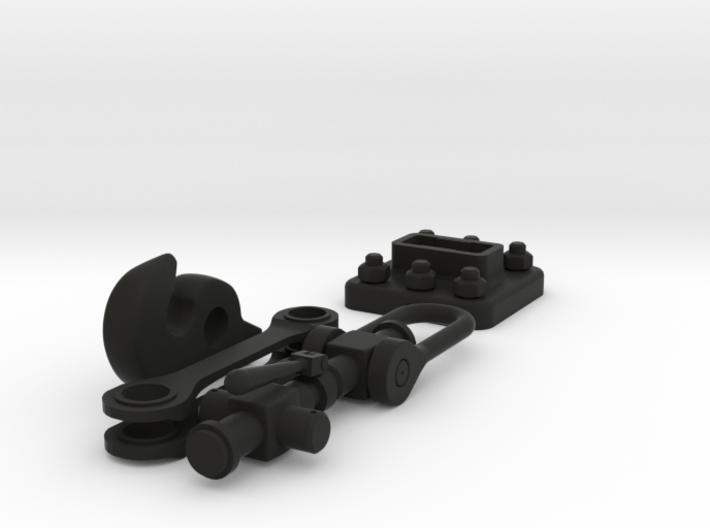 Coat hook - railway coupling 3d printed