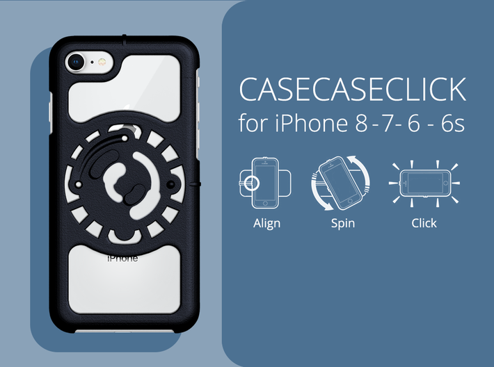 for iPhone 8-7-6-6s : core : CASECASE CLICK 3d printed