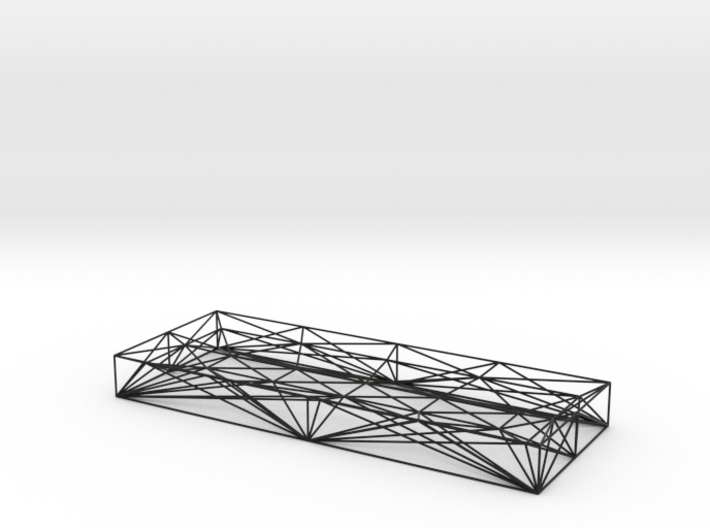 Wireframe pen tray 3d printed