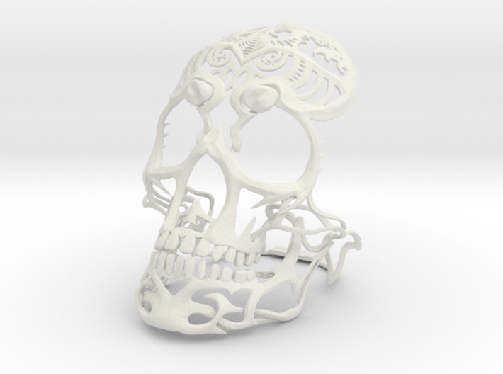 Skull sculpture Tribal Sugar 150mm 3d printed