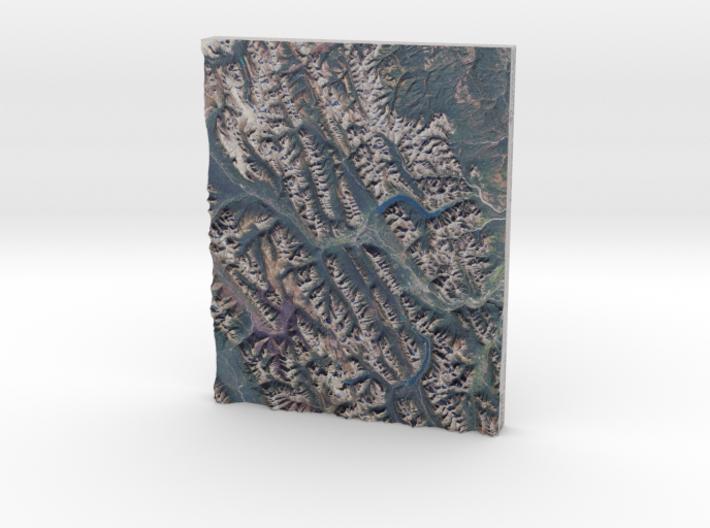 """Banff Region, Alberta Canada: 8""""x10"""" 3d printed"""