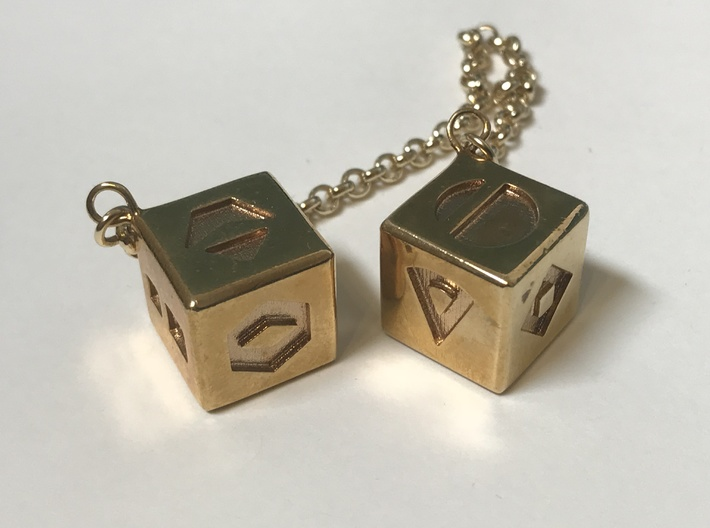 Star Wars, Sabacc Dice, Pendant 3d printed Two shown as example of material (One Pendant per order, chain not included)