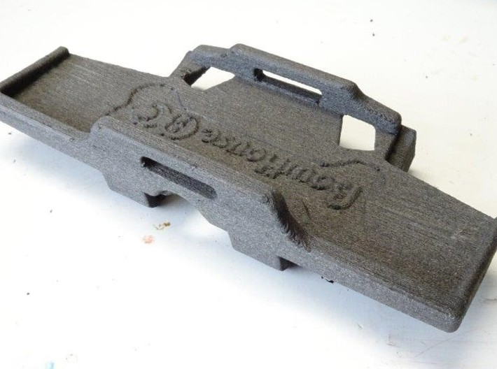Low CG Battery Tray and Rear Cross Brace for HPI V 3d printed Shown in carbon fiber nylon printed in-house by BowHouse