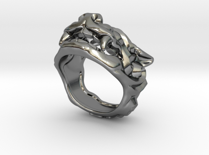 "Fu Dog (Komainu) ""a"" Ring 3d printed"