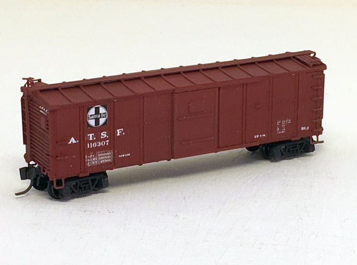ATSF BOXCAR Bx-3/6, original, complete shell 3d printed