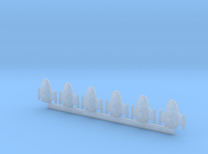 "Omni Scale Klingon Z-1 ""Zoran"" Fighters MGL 3d printed"